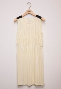 Raw Edge Pleat Dress