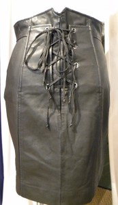 Leather Skirt (Back View), Regularly Priced at $202